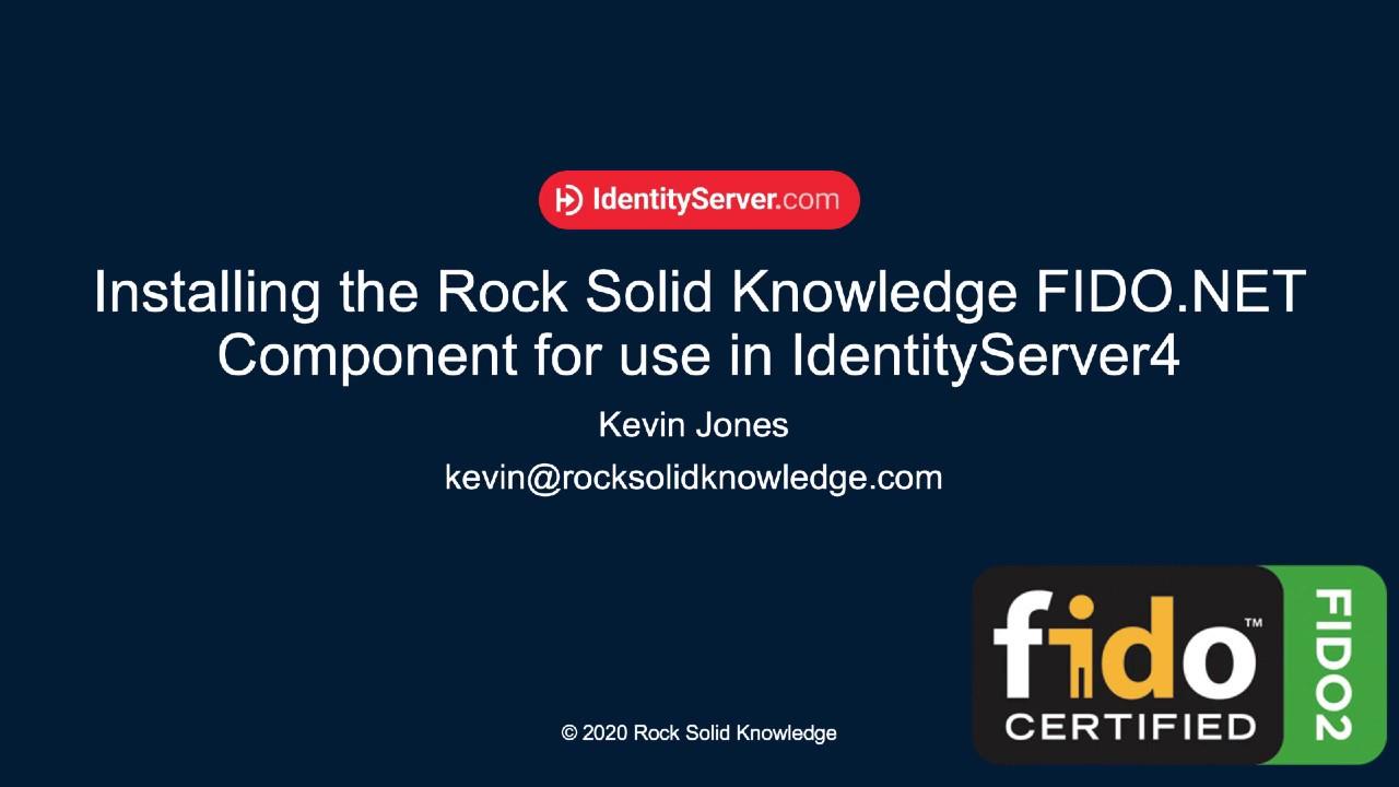 How to Setup FIDO2 for IdentityServer4