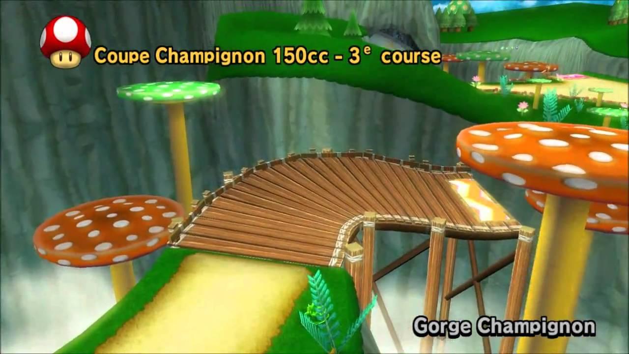 Mario kart wii coupe champignon hd720 emulateur dolphin for Coupe miroir mario kart wii