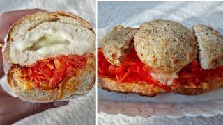 [1분완성] 치즈 치킨 함박 스테이크 샌드위치 만들기 …