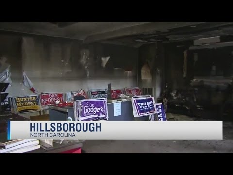 NC Republican office firebombed, 'Nazi' GOPers threatened in graffiti