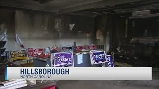 NC Republican office firebombed, 'Nazi' GOPers threatened in graffiti