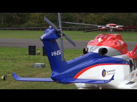 Queensland Emergency Augusta Westland  AW-139 turbine Scale Helicopter