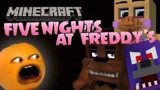 Annoying Orange Plays - FIVE NIGHTS AT MINECRAFT!!