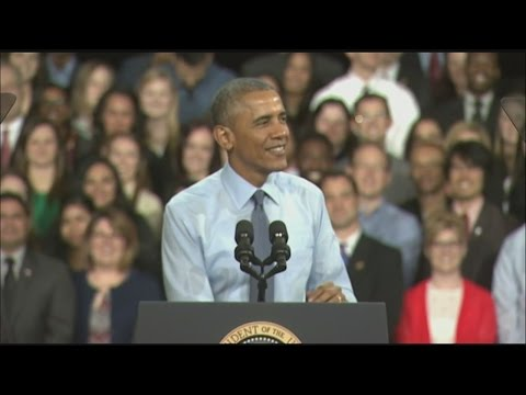 President Obama speaks at University of Kansas