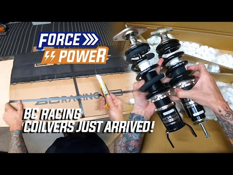 Unboxing brand new BC Racing Coilovers for a fresh build!