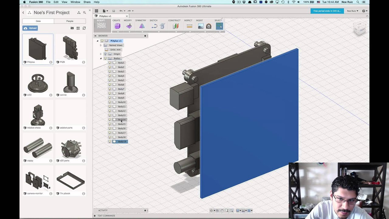 Layer by Layer - 123D to Fusion 360