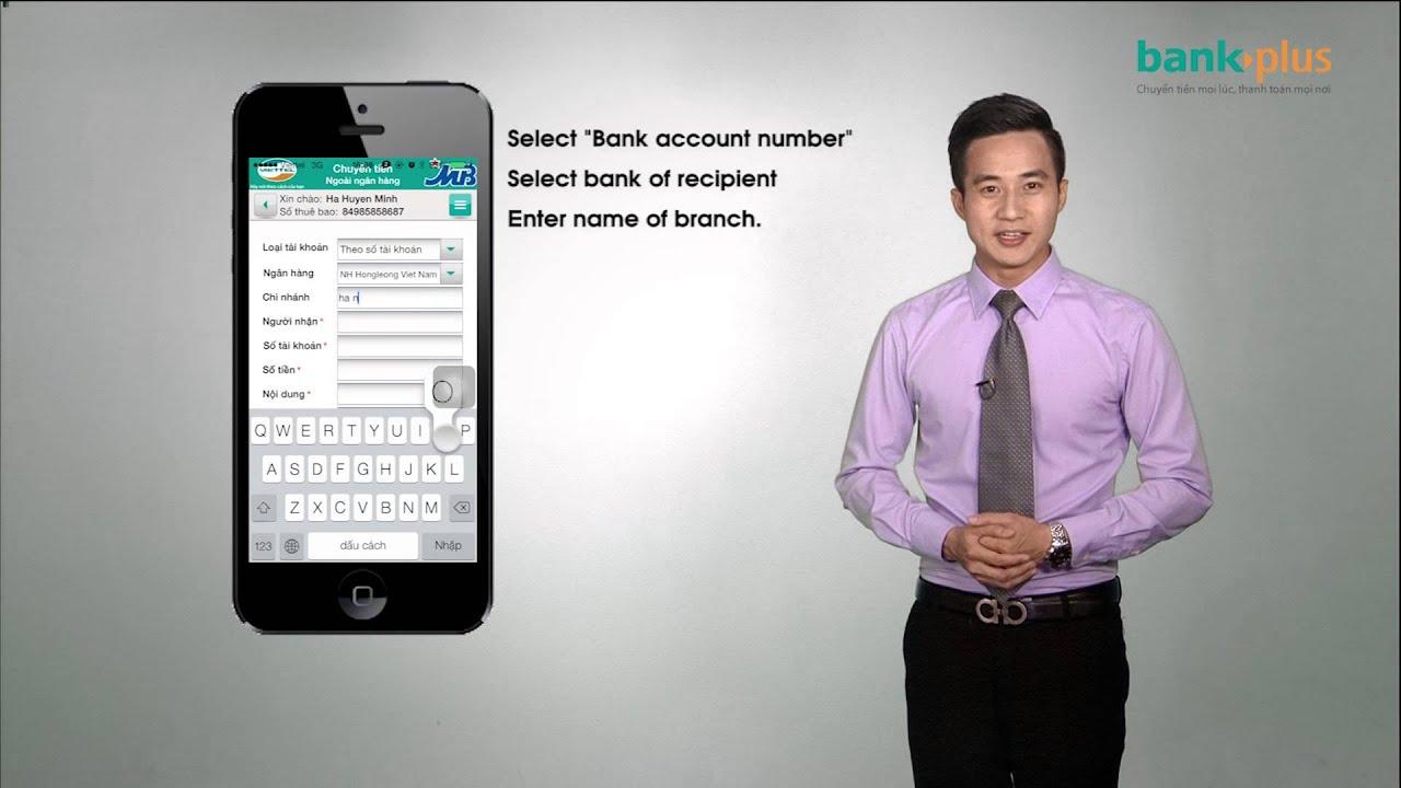 Chuyển tiền ngoài ngân hàng qua ứng dụng BankPlus