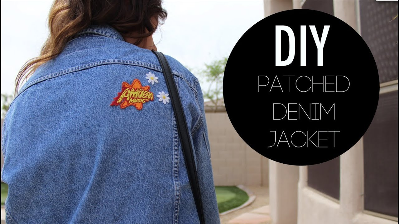 diy patched denim jacket youtube