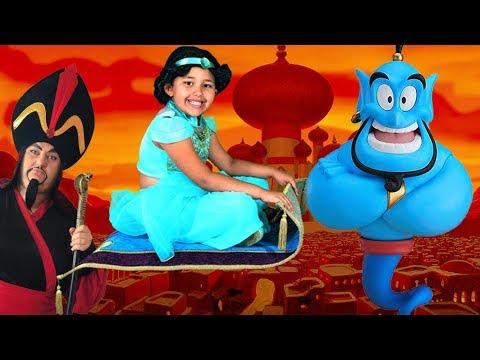 Disney Aladdin Drawing Painting With Surprise Toys Genie Jasmine