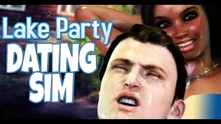 NOT LOOKING, JUST TOUCHING! Dating Sim - Lake Party