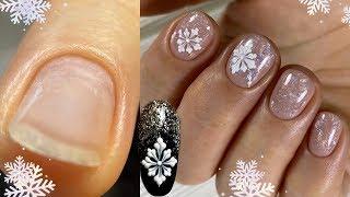 Теперь вы точно сможете их нарисовать Дизайн на коротких ногтях Самый новогодний дизайн ногтей