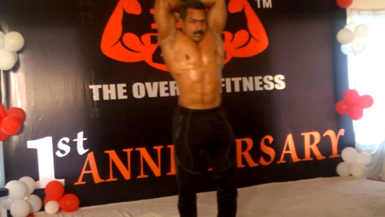 Mr.INDIA mahesh waghmare bodybuilder @B2zone health club, Bhilwara - YouTube