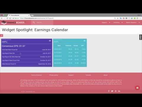 Widget Spotlight #6- Earnings Calendar