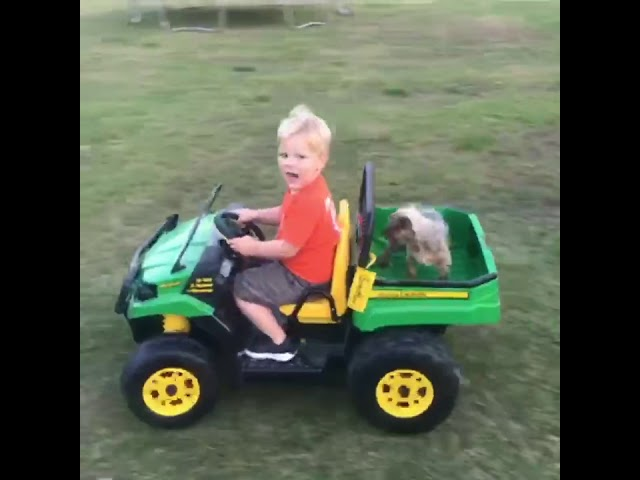 Nash takes Tuffy for a ride