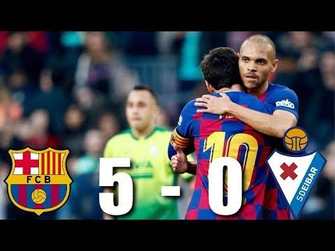 Barcelona Vs Eibar [5-0], La Liga, 2020 - MATCH REVIEW