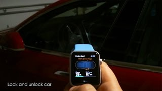Tesla Model S Car Fully Controlled By Apple Watch