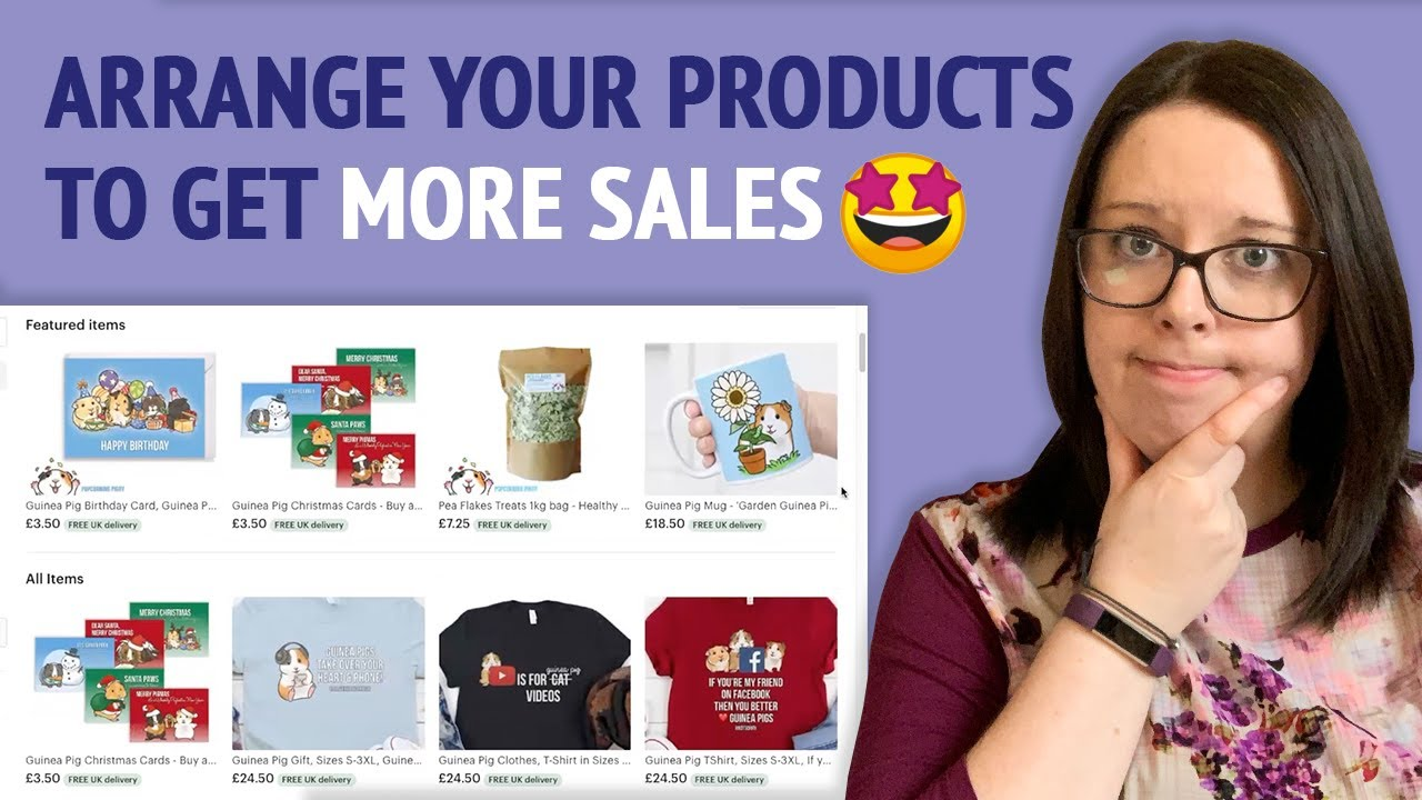 How to FEATURE & ARRANGE PRODUCTS in your ETSY SHOP   Etsy Seller Tips 2020