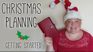 Christmas Planning - Getting Started - Filofax Friday