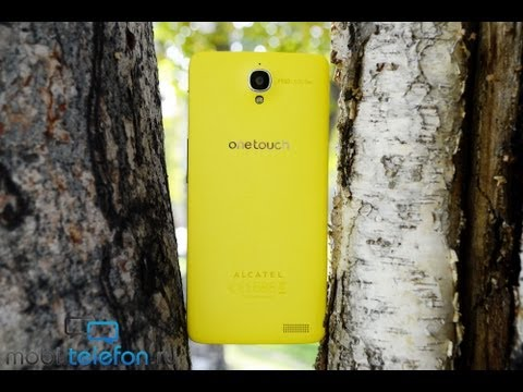 Обзор Alcatel One Touch Idol X: тонкий, легкий и желтый (review)