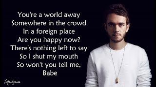 happy now   zedd elley duhé lyrics 🎵