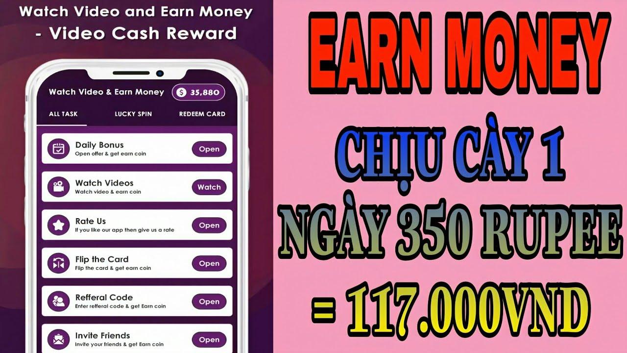 [Hướng Dẫn] Sử Dụng Earn Money : Xem Quảng Cáo Kiếm Tiền
