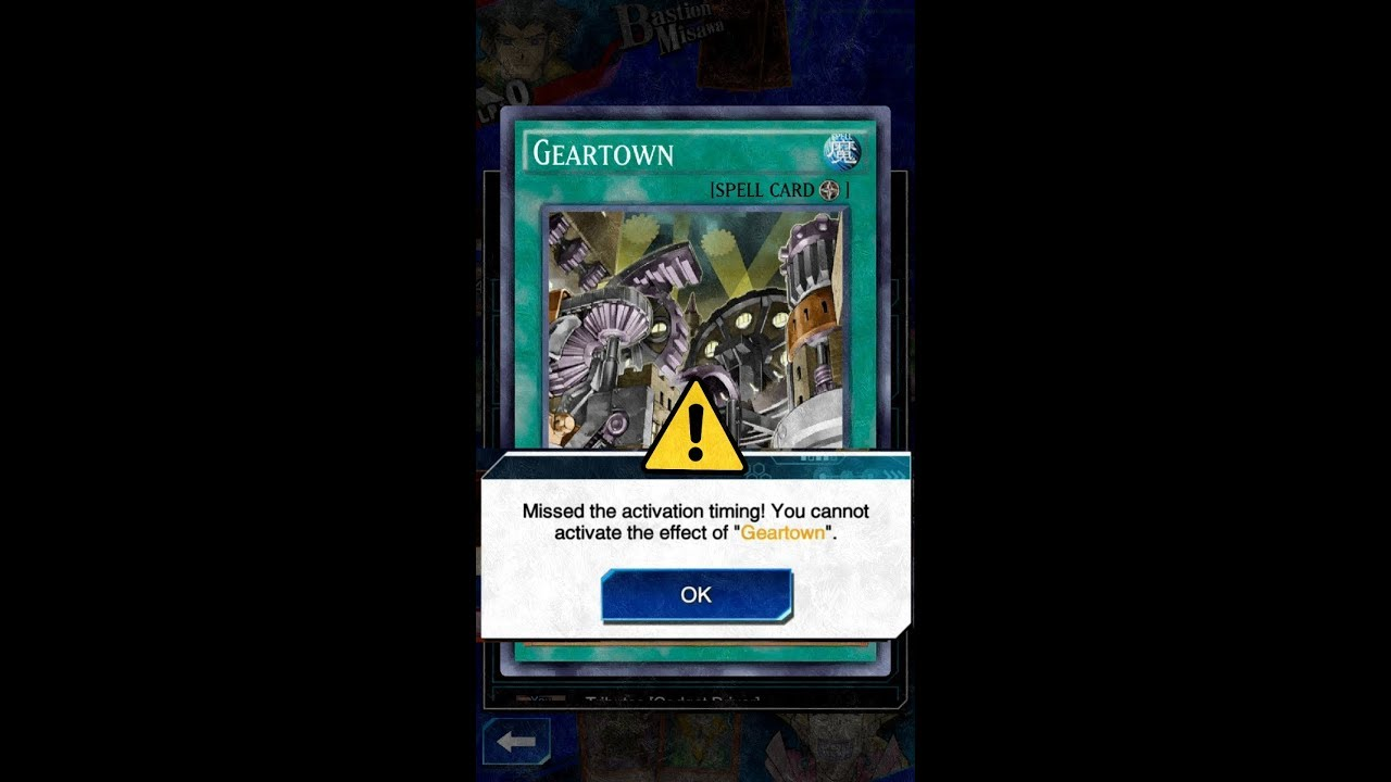yugioh missed activation timing