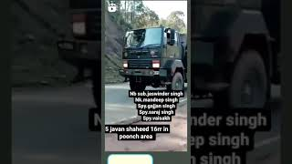 5 Indian soldier Shahid 🇮🇳🇮🇳// Jai Hind 🇮🇳 // J &k poonch // Respect Army 🇮🇳 // Indian Trucking Vlog