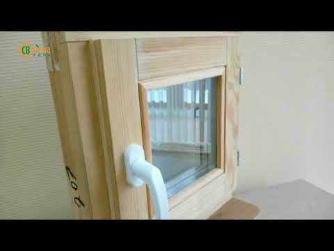 Стандартные деревянные окна из сосны со стеклопакетом