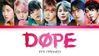BTS - DOPE / SICK (방탄소년단 - 쩔어) [Color Coded Lyrics/Han/Rom/Eng/가사]