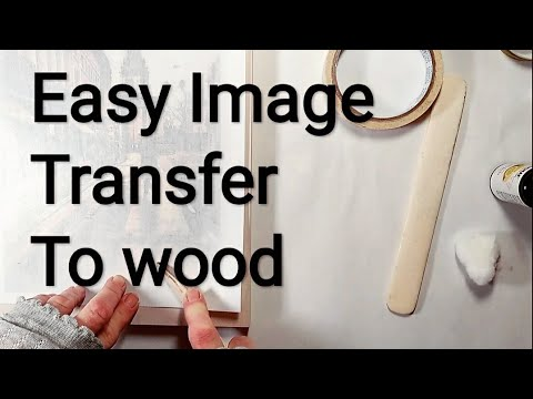 diy image and photo transfer - fastest way to print on wood