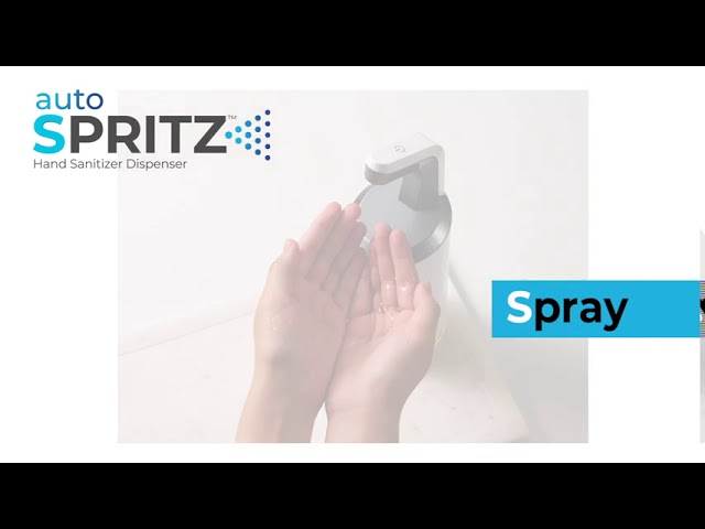 autoSPRITZ Hand Sanitizer Dispenser Bundle video thumbnail