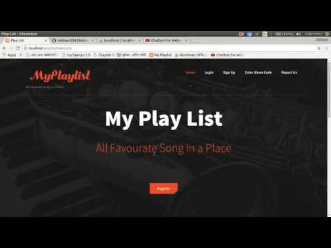 My Playlist( Database Lab Project) PHP MySql Opensource Project