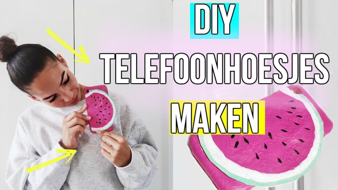 Fabulous Telefoonhoesje maken . DIY Doe het zelf 🍉📲 NL - YouTube @HE12