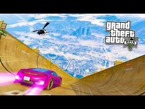 GTA 5 PC Mods - ULTIMATE RAMP STUNTS MOD! GTA 5 Mega Ramp Mod Gameplay! (GTA 5 Mods Gameplay)