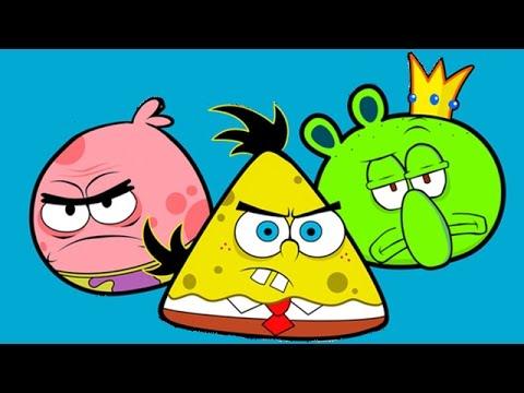 SpongeBob SquarePants VideoGame - Angry Birds Toon Game  - SpongeBob Games