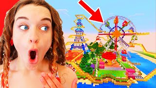 WHO BUILDS THE BEST THEME PARK? Minecraft Gaming w/ The Norris Nuts