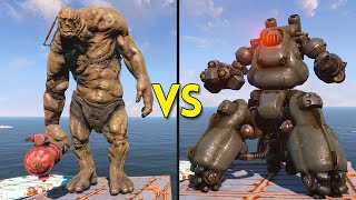 Fallout 4 - 25 Behemoths VS 25 Sentry Bots - Battles #1