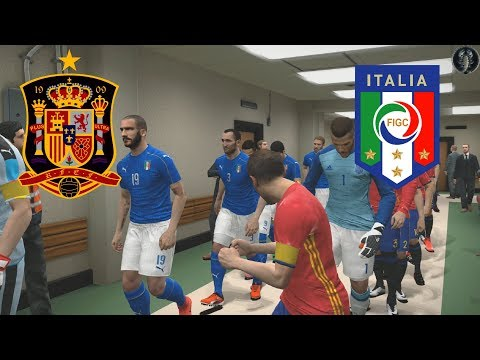 Spagna vs Italia | Qual. mondiali | Menu PES 2018 | 1080p60/fps