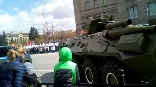 праздник после парада 9 мая в Новосибирске