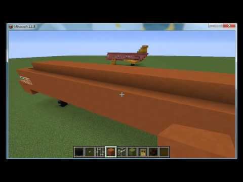 Minecraft Tutorial - How to Build a Basic Airplane (Business Jet)