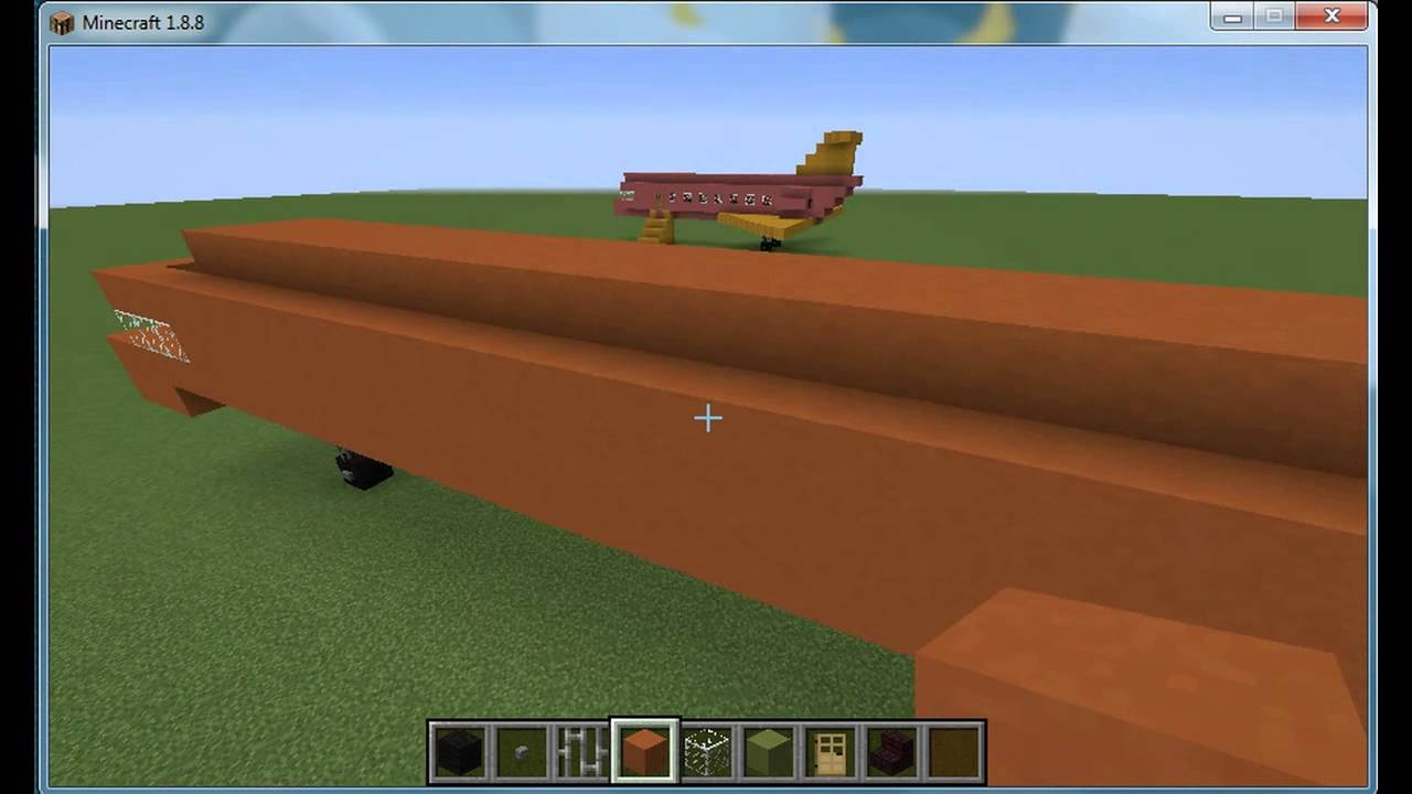 minecraft how to make a airplane
