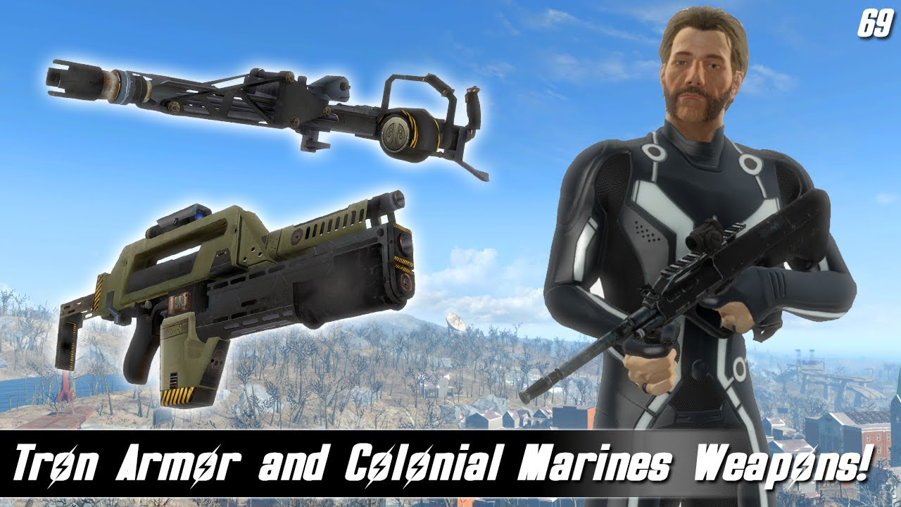 Fallout 4 Mods Week 69 - Tron Armor and Colonial Marines Weapons!