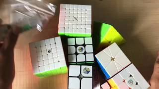 Massive 180$ Cube unboxing! X man shadow 6x6, yuxin little magic 2x2, and more! |The Cubicle.Us