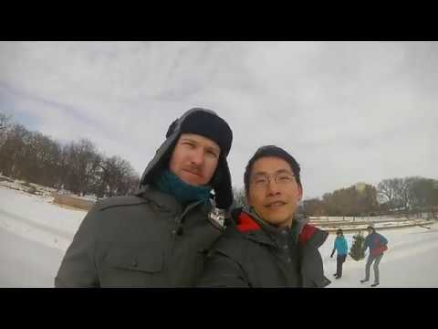 Iceskating in Winnipeg at the Forks and Assiniboine Park - Jan 2018
