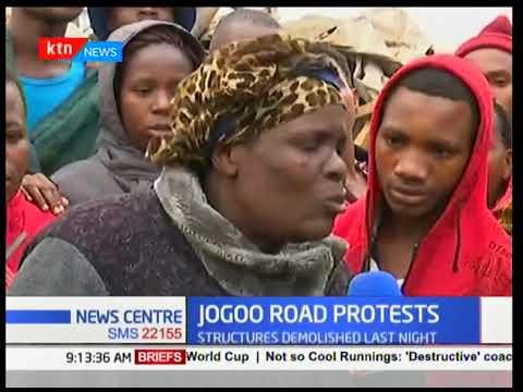 Traders along Jogoo Road protest demolition of stalls