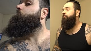 How I straighten mỳ beard like a BOSS !!!! | Curly beard fix