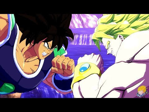Dragon Ball FighterZ - Broly (DBS) Vs Broly (DBZ) Gameplay (English/Japanese)【60FPS 1080P】