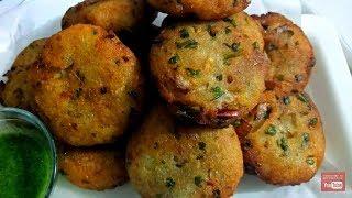 Crispy  Suji-Aloo Cutlets    Crispy Potato Semolina Cutlets