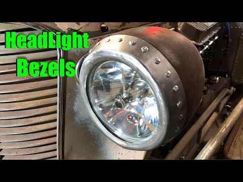 Making Headlight Bezels - 1937 Rad Rod - Update 68