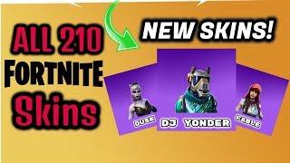 ALL 210 Fortnite Battle Royale Skins